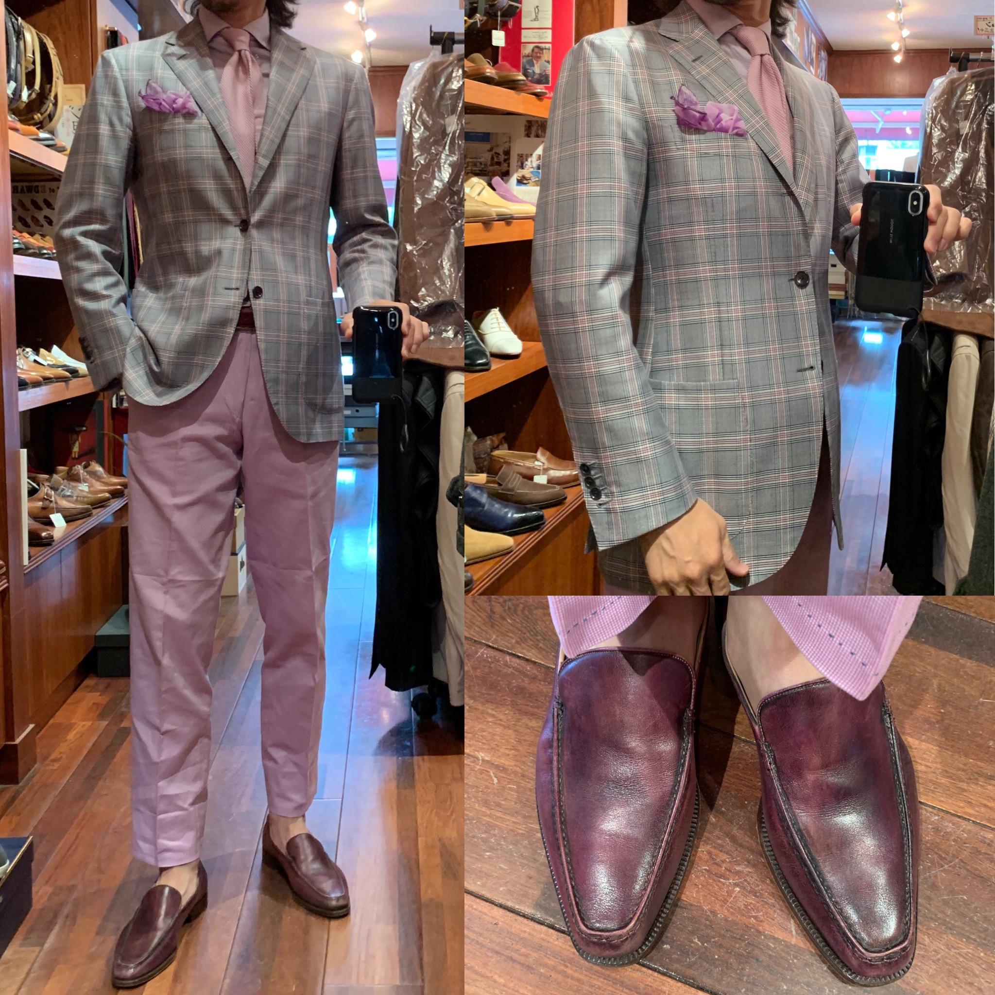 ◆薄紫色ジャケパンでフィレンツェのアート紙専門店へGO◆