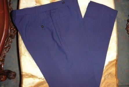 【チャルディ CIARDI】春夏スラックスパンツ 48 ネイビー紺色無地