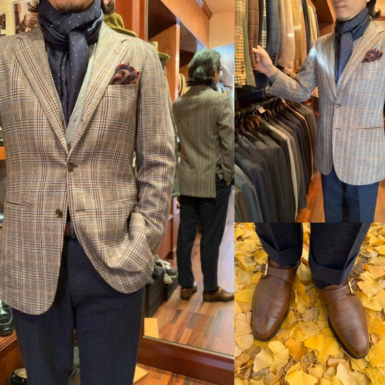 ◆簡単にお洒落に見せるチェック柄ジャケットの着こなし◆