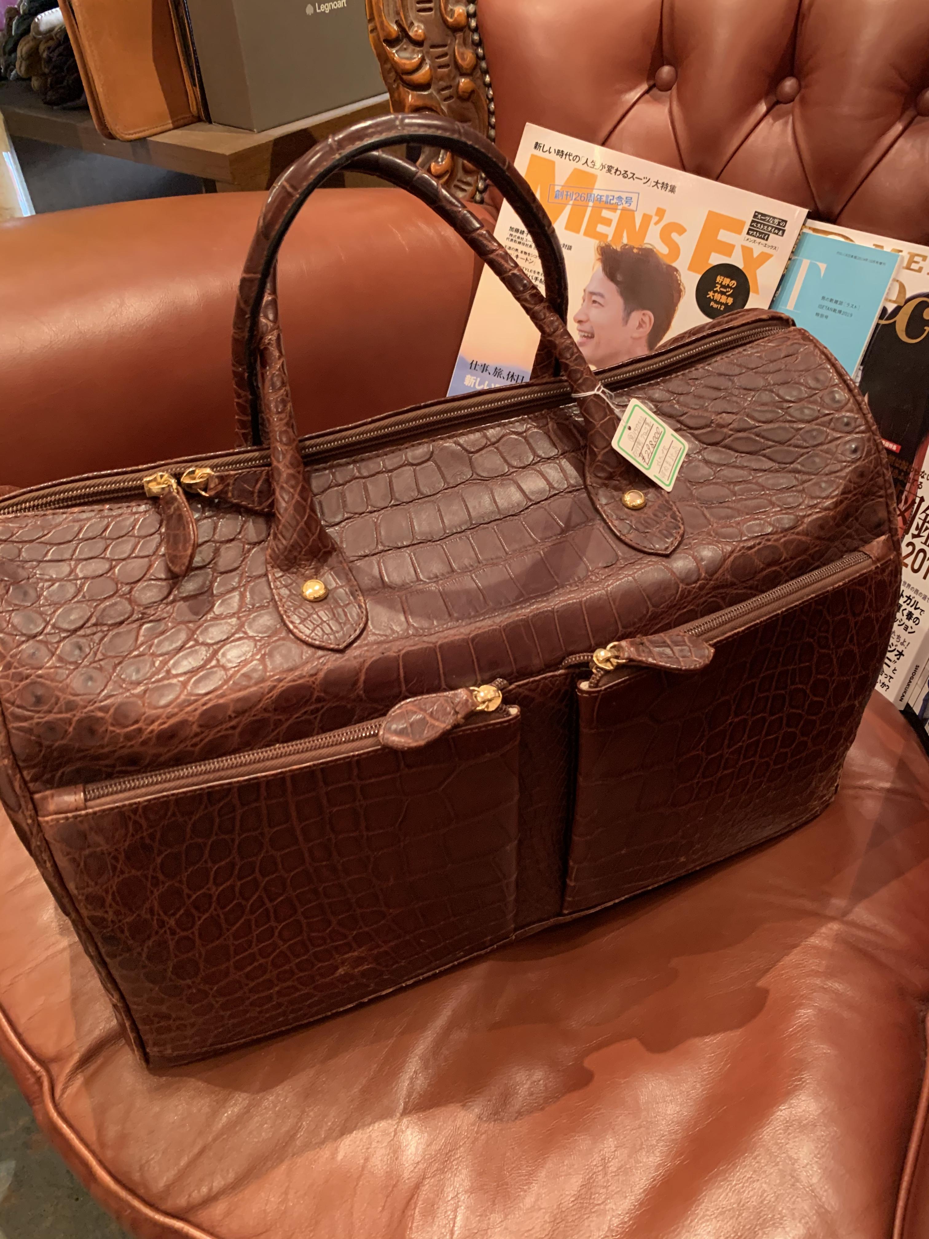 ◆超ド級のイタリア製クロコ革ボストンバッグ新着です!◆