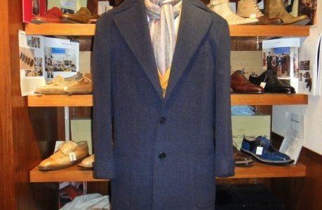 【セミナーラ SEMINARA】注文服 厚肉起毛短丈コート 52~54位 紺