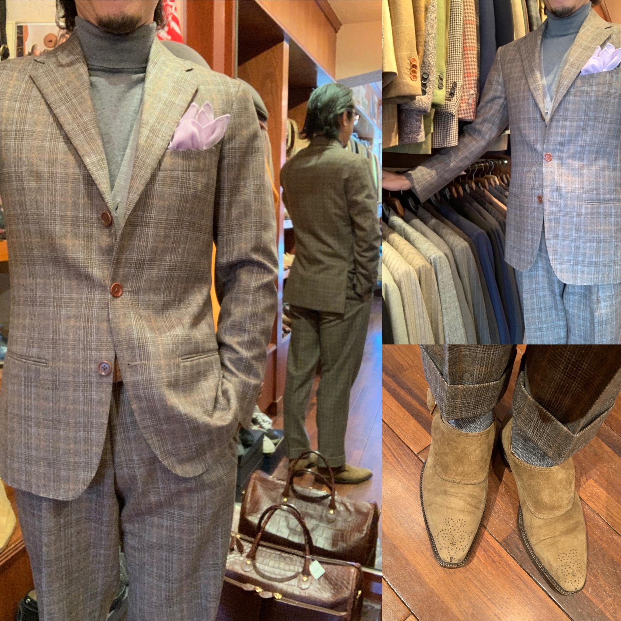 ◆余裕ある紳士に魅せるチェック柄スーツ着て遊ぼう◆