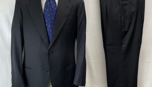 【キトン Kiton】合い物 ウールブラックスーツ 50