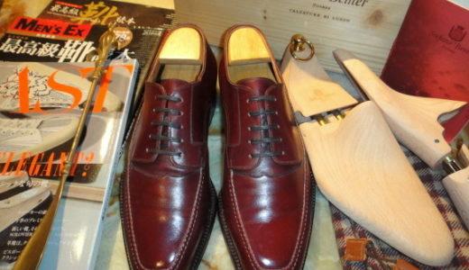 伊)ステファノベーメルSTEFANO BEMER外羽根Uチップ靴40.5赤茶色  SSB0025