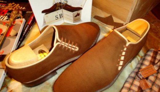 22万ステファノベーメルBEMER名作スエード革サイドレース靴42茶  SSB0027