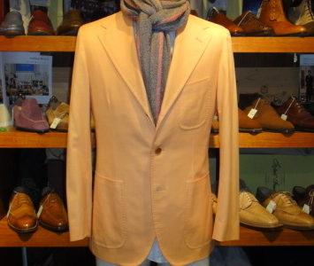 【サルトリオ sartorio】春夏 綿毛ブレンド素材軽快テーラードジャケット 46 橙