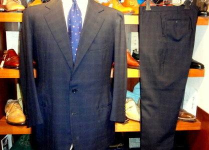 【カンパーニャ CAMPAGNA】注文服 合い物 ネイビースーツ 52